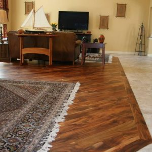 Distressed Acacia flooring