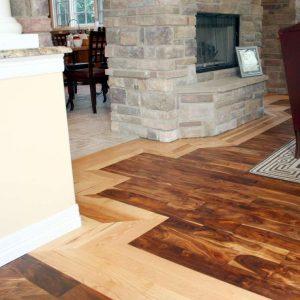 Distressed Acacia floor