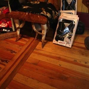 hickory floor before refinishing