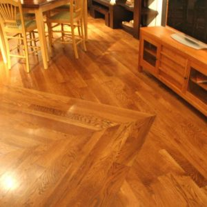 reclaimed oak floor installation