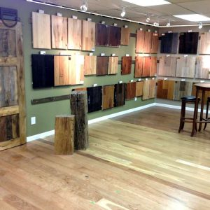Hardwood flooring showroom in Denver