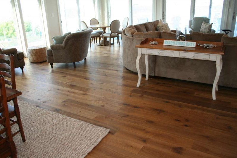 Customized engineered white oak flooring in Colorado