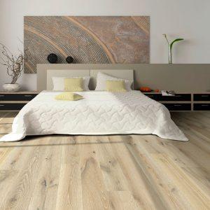 Hardwood floors in the master bedroom