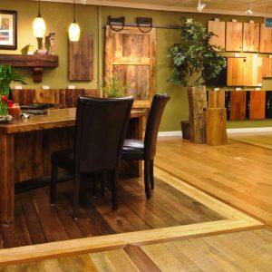 Hardwood flooring showroom in Denver.