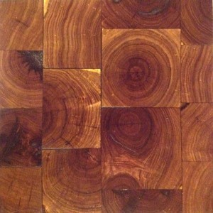 Mesquite end grain block flooring