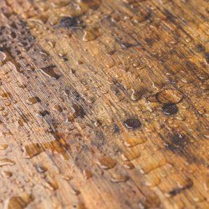 Hardwood floor water stains