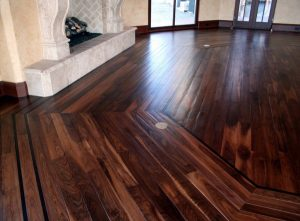 Dark hardwood floor design in Colorado