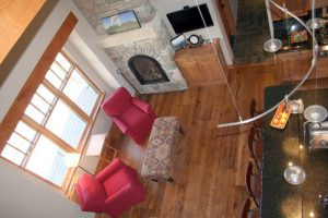 Hardwood flooring styles in the living room