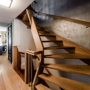 Hardwood staircase in Denver