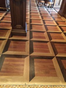 Commercial wood floor installation Colorado