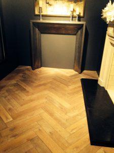 Parquet floor installation in Denver