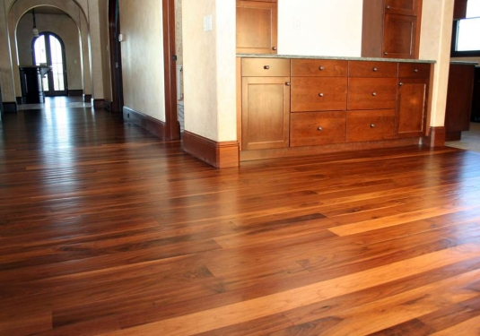 walnut floors after installation